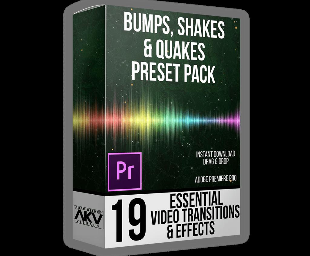 Bumps, Shakes, and Quakes Preset Pack   AKV STUDIO - Free