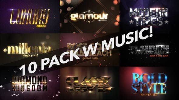 Download 4K Luxury 10 Logo Text Intro Pack - Free Download