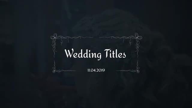 Wedding Titles   Motionarray 212214 - Free Download - MATESFX