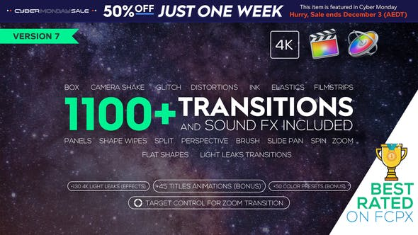 [Special] Transitions and Sound FX | Videohive 21589524 Version 7.0  Last Update	26 November 19