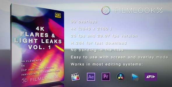 [Special] Flares and Light Leakes vol.1 Videohive 21564546