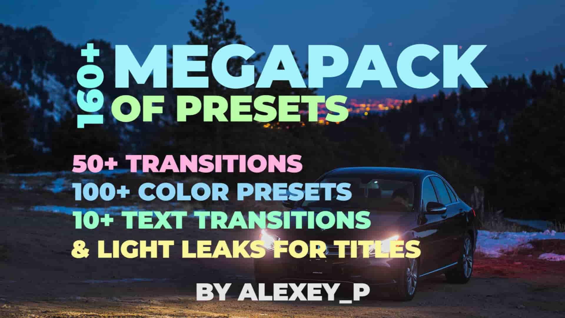 [Special] 160+ MegaPack – Premiere Pro Preset | Motionarray 119919