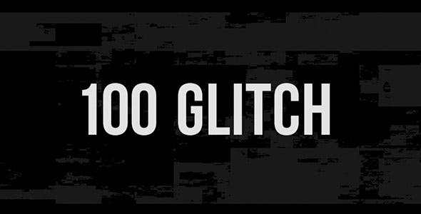 [Special] 100 Glitch Overlay Videohive 21364623