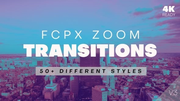 FCPX Zoom Transitions Videohive 21511242 V3 ( Update 21 October 19 )