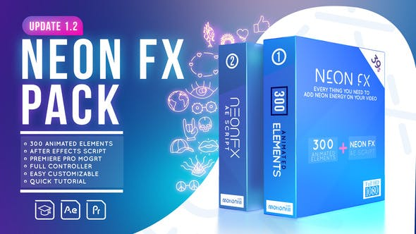 Glowing Scribble – Neon Fx Pack Videohive 24262149