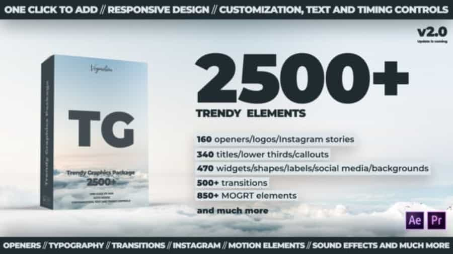 2500 + Trendy Motion Graphics Package Videohive 24321544