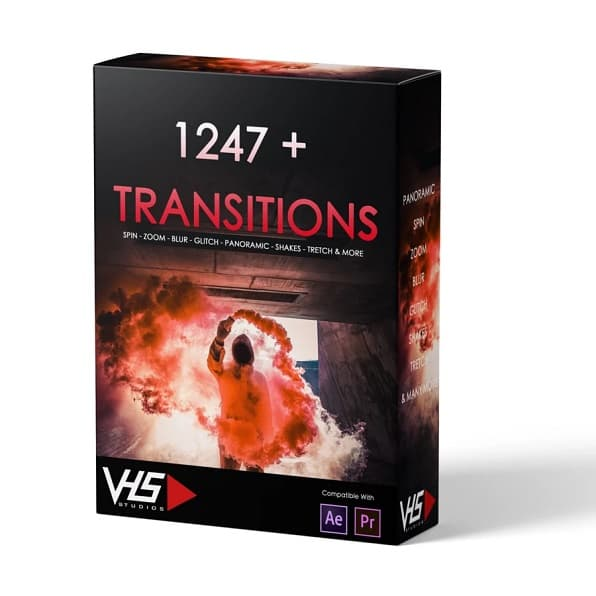 VHS® 1247+ Transitions Presets Package | vhsstudio