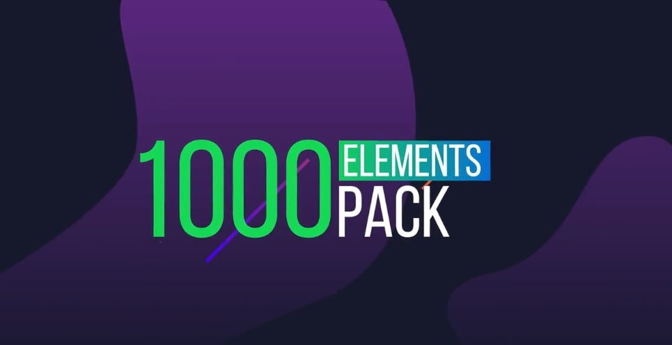 1000 Elements. Graphics Tool Pack Motionarray 305432