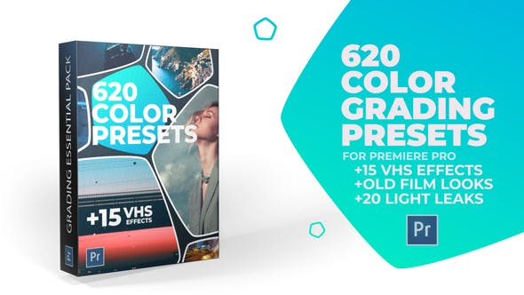 Videohive 24589977 620 Cinematic Color Presets, 15 VHS Video Effects, Old Film Looks ( Last Update 6 February 20)