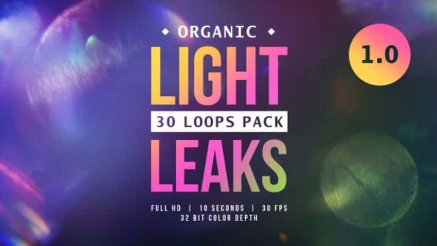 Organic Light Leaks 1.0 Videohive 24079300