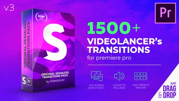 Videohive 22125468 1500 Transitions for Premiere Pro – Original Seamless Transitions V3 (Updated)