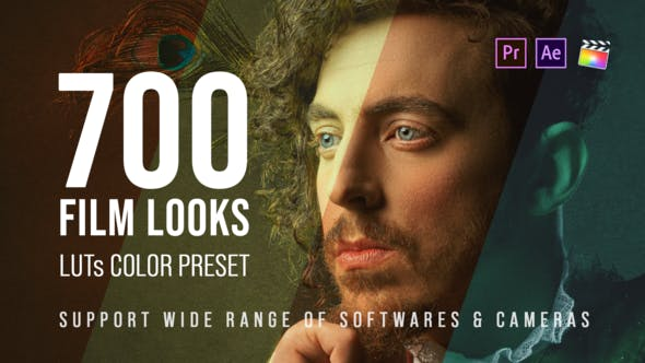 Videohive 25157078 700 Film Looks – LUT Color Preset Pack