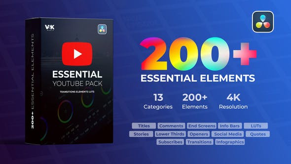 Download Videohive 30928023 Youtube Essential Pack - Free Download